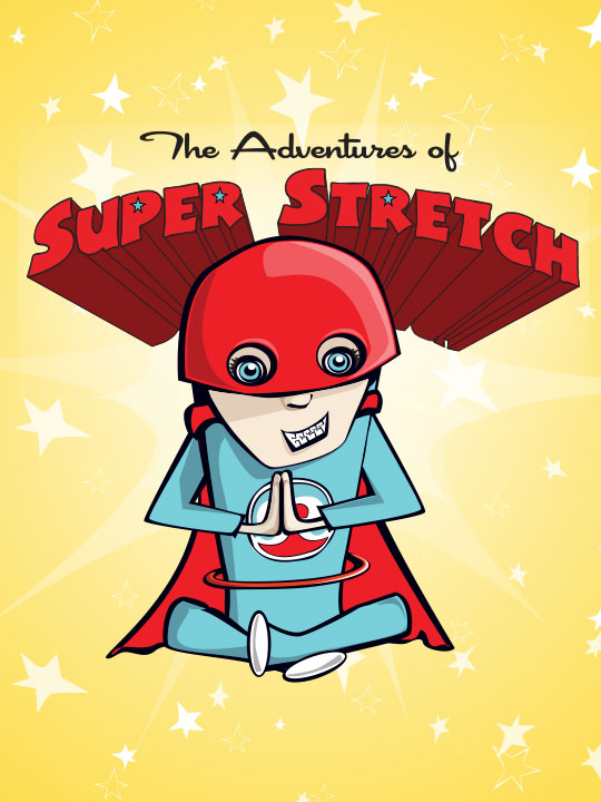 Adventures of Super Stretch Yoga Removable Tattoo
